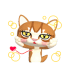 3D 目が怖いネコ「ドラ猫モータース」(個別スタンプ:39)