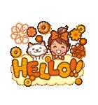 英語でPOP!お花いっぱい日常スタンプ(個別スタンプ:03)