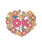 英語でPOP!お花いっぱい日常スタンプ(個別スタンプ:04)
