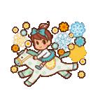 英語でPOP!お花いっぱい日常スタンプ(個別スタンプ:08)