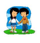 BEST FRIENDS IN LOVE (NAI AND NINA)(個別スタンプ:01)
