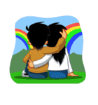 BEST FRIENDS IN LOVE (NAI AND NINA)(個別スタンプ:17)