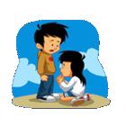 BEST FRIENDS IN LOVE (NAI AND NINA)(個別スタンプ:37)
