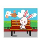 週末の公園ピクニック花見(個別スタンプ:21)