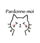 かわいい子猫(フランス語)(個別スタンプ:12)