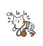 かわいい子猫(フランス語)(個別スタンプ:30)