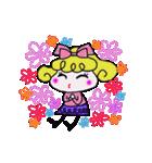 カラフル可愛い女の子のスタンプ(個別スタンプ:01)