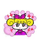 カラフル可愛い女の子のスタンプ(個別スタンプ:03)