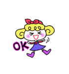 カラフル可愛い女の子のスタンプ(個別スタンプ:08)