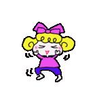 カラフル可愛い女の子のスタンプ(個別スタンプ:15)