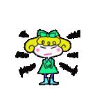 カラフル可愛い女の子のスタンプ(個別スタンプ:26)