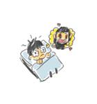 Long Distance Cute Power Couple(個別スタンプ:05)