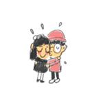 Long Distance Cute Power Couple(個別スタンプ:18)