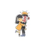 Long Distance Cute Power Couple(個別スタンプ:26)