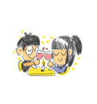 Long Distance Cute Power Couple(個別スタンプ:29)
