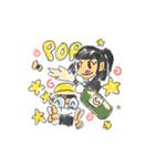 Long Distance Cute Power Couple(個別スタンプ:30)