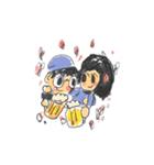 Long Distance Cute Power Couple(個別スタンプ:31)