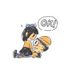 Long Distance Cute Power Couple(個別スタンプ:36)