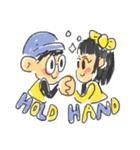 Long Distance Cute Power Couple(個別スタンプ:39)