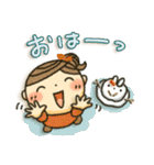冬・可愛さUP女子スタンプ(個別スタンプ:05)