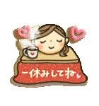 冬・可愛さUP女子スタンプ(個別スタンプ:11)