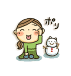 冬・可愛さUP女子スタンプ(個別スタンプ:16)