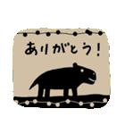 かわいい動物達(影絵風)(個別スタンプ:3)