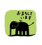 かわいい動物達(影絵風)(個別スタンプ:28)