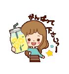 大人女子のかわいい瓶のメッセージ[敬語](個別スタンプ:06)