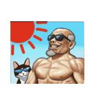 じじいと猫と時々マッチョ(個別スタンプ:35)