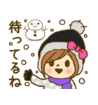 お絵かきガールズスタンプ3~冬ver.~(個別スタンプ:33)