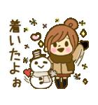 お絵かきガールズスタンプ3~冬ver.~(個別スタンプ:34)