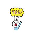 【color】ウサギのウーのホメホメスタンプ(個別スタンプ:28)