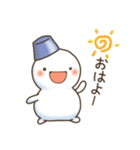 ゆきだるまん&ゆきうさ(個別スタンプ:01)
