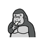 コスプレゴリラとそのバナナ(個別スタンプ:2)