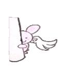 天使のネコとウサギ  仙台弁だっちゃ(個別スタンプ:7)