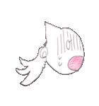 天使のネコとウサギ  仙台弁だっちゃ(個別スタンプ:12)