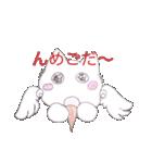 天使のネコとウサギ  仙台弁だっちゃ(個別スタンプ:16)