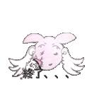 天使のネコとウサギ  仙台弁だっちゃ(個別スタンプ:30)