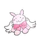 天使のネコとウサギ  仙台弁だっちゃ(個別スタンプ:32)