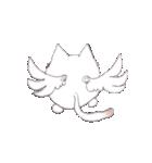 天使のネコとウサギ  仙台弁だっちゃ(個別スタンプ:37)