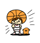 がんばれ!バスケットボール(個別スタンプ:01)