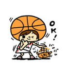 がんばれ!バスケットボール(個別スタンプ:03)