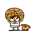がんばれ!バスケットボール(個別スタンプ:06)