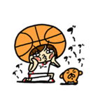 がんばれ!バスケットボール(個別スタンプ:13)
