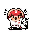ソフトボールとねこ(個別スタンプ:02)