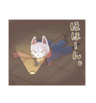 狐面ニンジャさん(個別スタンプ:38)