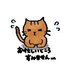 猫のトラタ5 冬(個別スタンプ:28)