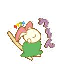 キャラメルランド ネズミ(緑)(個別スタンプ:4)