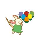 キャラメルランド ネズミ(緑)(個別スタンプ:9)